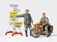 35241 Tamiya German Motorcycle Orderly Set 1/35th Plastic Kit 1/35 Military