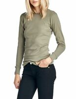 NEW NEXT LEVEL WOMEN'S THERMAL PREMIUM SHIRT LONG SLEEVE SOLID IN OLIVE SMALL