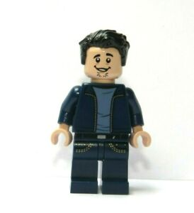 LEGO Flesh Minifigure Boy Man Blue Jacket Jeans  Black Hair Stubble