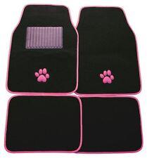 Universal CAR MATS PAW Rosa Trim Anteriore & Posteriore Antislittamento Gomma Supporto cane / gatto