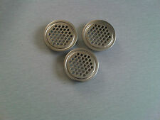 Three 42mm Stainless Air Vents Narrow Canal House Boat Ship Marine Yacht Cruiser