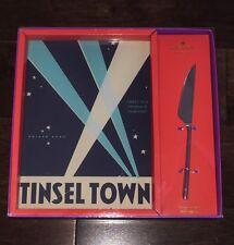 NIB Kate Spade New York Lenox Tinsel Town Glass Cheese Cutting Board w/Knife New