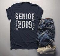 Men's Senior Class 2019 T Shirt Graduate Tee Grunge Distressed TShirt Graduation