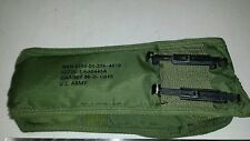 Military Olive Drab Textile Carry Case Bag w/ Velcro for Phones Wakie Talkie ect