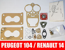 Réparation Kit Solex 32 TMMIA / 32 MMISA Carburateur Peugeot 104 / Renault 14