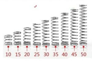 25mm x 3mm SPRING 2 PIECES STAINLESS STEEL MICRO SMALL COMPRESSION  3mm x 25mm
