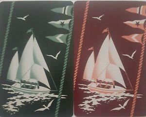 """Swap cards vintage - PAIR OF GENUINE VINTAGE """"SAILING SHIPS"""""""