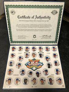 World Champion 1969 Miracle Mets 25th Anniversary Commemorative Cap Sheet INTACT