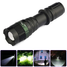 Zoomable CREE XML T6 LED Flashlight Camping Torch Light Super Bright 5000LM Lamp