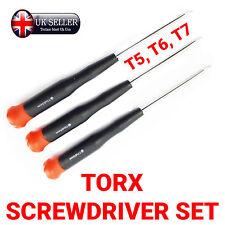 3pc TORX SCREWDRIVER SET, T5, T6, T7, STAR HEAD, REPAIR, ipod, Phone MP3, Laptop