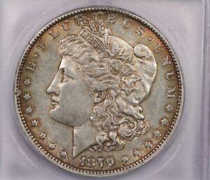 1879-O 1879 Morgan Silver Dollar S$1 ICG AU53 Great Color!
