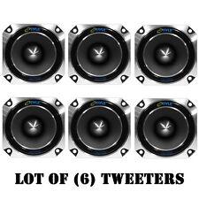 Lot of (6) Pyle PDBT28 Heavy Duty Super Car Tweeters - 150 W RMS - 300 W PMPO