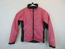 Mountain Hardwear Pink Black Full Zip Primaloft Puffer Jacket Womens Size 8