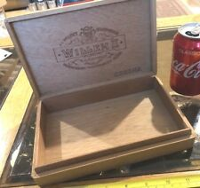 Willem II Corona Wooden Wood Case Storage Holder Cigar Box Vintage