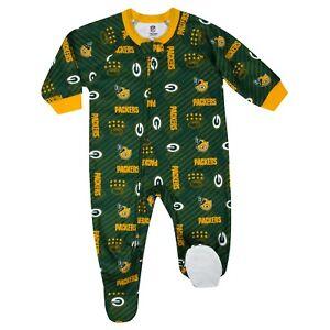 Gerber NFL Green Bay Packers Pajamas Infant Baby Toddler Blanket Sleeper Footed