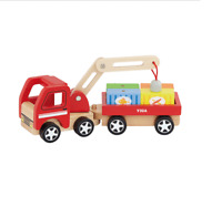 Wooden Crane Magnetic Truck by Viga Toys