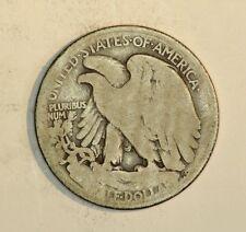 1916 50 Cent Half Dollar Walkers Walking Liberty Coin  D Lot #jp27
