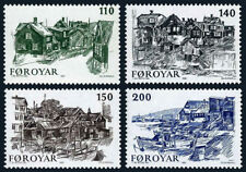 Faroe Islands 59-62, MNH. Sketches of Old Torshavn by Ingalzur Reyni, 1981