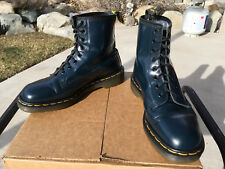 90's Vintage Dr. Martens Navy Blue US 8 Boots England 1460 doc shoes 8-eye uk7