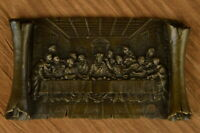 The Last Supper Agony in the Garden Doubled Sided Religious Bronze Sculpture Art