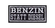 Benzin Statt Diesel Patch Aufnäher Badge Biker Heavy Rocker Bügelbild Kutte Stic