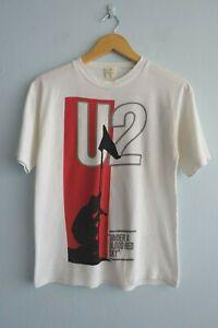 Vintage U2 1984 The Unforgettable Fire Australasia Tour White T-Shirt sz S