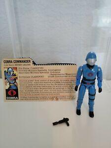 GI Joe Cobra Commander Complete with Filecard VERY NICE
