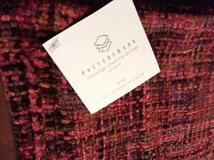 """Gorgeous NWT Pottery Barn Melange Chenille Pillow Cover (only) Wine 18 × 18"""" Zip"""