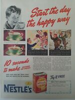 Vintage EverReady Nestle sweet milk cocoa color original ad
