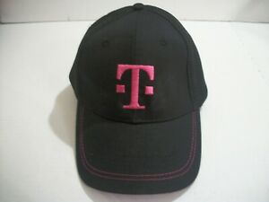 T Mobile Tuesdays Black And Pink Ball Cap Mesh Hook And Loop Adjustable Hat