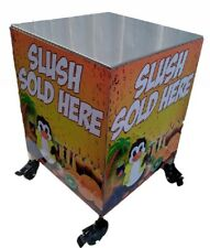 Twin bowl slush machine stainless steel table 55x55xH80cm