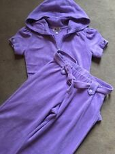 juicy couture tracksuit Lilac Towelling Age 12 Short Sleeved And Pocket Pants