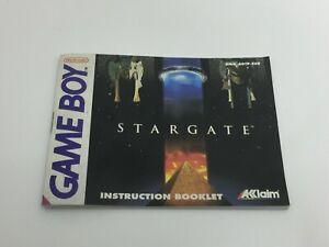 NINTENDO GAME BOY INSTRUCTION BOOKLET - STARGATE - 1994