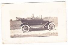 Man In A Old Car-Real Photo Postcard