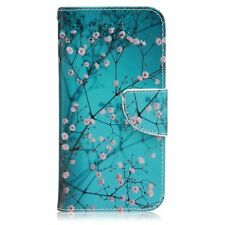 Plum Blossom Design Premium PU Leather Fold Wallet Pouch Flip Case For LG G5