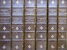 Lives of the Queens of England, 6 Vols. Agnes Strickland. 1888-93. Leather Bound