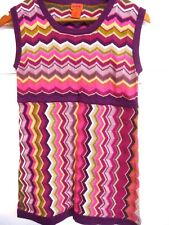 Missoni for Target Girls Tunic Sweater Dress Zig Zag Sz XL (8-10) Sleeveless NEW