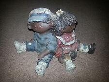Sarah'S Attic Black American Collectible Boy Girl And Dog Numbered
