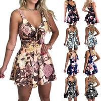 Women's Clubwear Holiday Summer Mini Jumpsuit Playsuit Romper Beach Shorts Dress