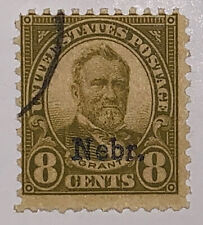 Travelstamps: 1929 US Stamps Scott #677, Nebraska Overprint, 8 cents, Used NG