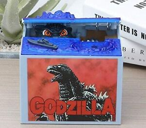NEW Godzilla Movie Musical Monster Moving Electronic Coin Money Piggy Bank
