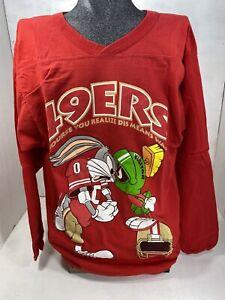 Vintage San Francisco 49ers Long Sleeve Bugs Bunny/ Marvin Loony Tunes 1993- M