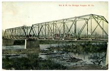 Keyser WV - BRIDGE BETWEEN MARYLAND & WEST VIRGINIA - Postcard