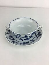 Blue Danube BLUE ONION - Cream Soup Bowl & Saucer/Liner