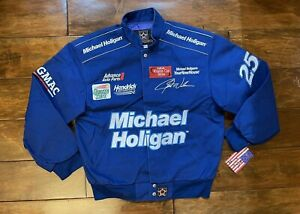 Jerry Nadeau #25 Michael Holigan Racing Race Jacket Mens Size Small NASCAR New