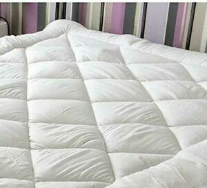 Luxury Waterproof Quilted Microfibre Mattress Topper Non-Slip Backing University
