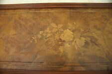 Antique decorative inlayed wood panel