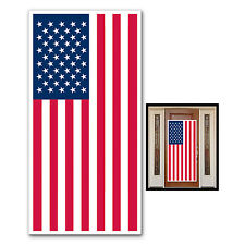 American Flag Plastic Door Cover Decoration USA Independence Day Party Patriotic