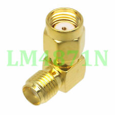 1pce Adapter 90° RP.SMA male jack to SMA female jack connector right angle M/F