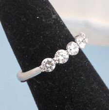 Beautiful Sterling Silver 925,5 Stones Stackable Ring Cubic Zirconia Stones 6.5
